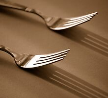 Double Fork Sepia by REHILL61