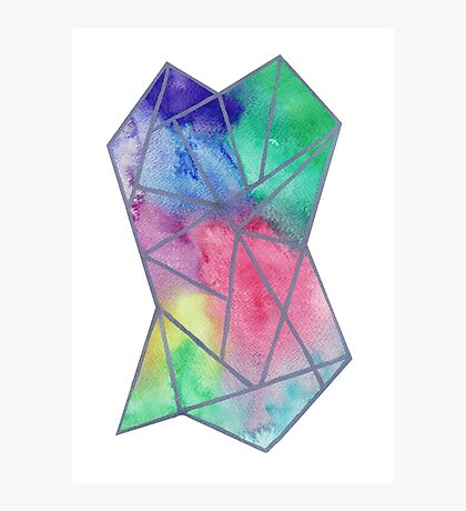 Abstract tiedye Photographic Print