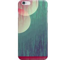 Two Moons and Mountain Abstract Art iPhone Case/Skin