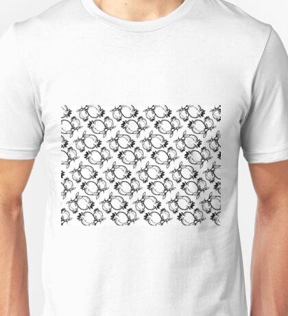 Hand Drawing Pomegranate Lineart Pattern Unisex T-Shirt