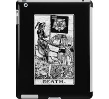 Death Tarot Card - Major Arcana - fortune telling - occult iPad Case/Skin