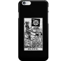 Death Tarot Card - Major Arcana - fortune telling - occult iPhone Case/Skin