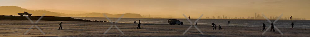 Burleigh Heads Panorama by Andre Gascoigne