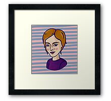 Cute ginger girl Framed Print