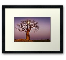 Twilight Moonlight Framed Print