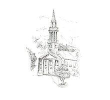 Milford, CT Church Photographic Print