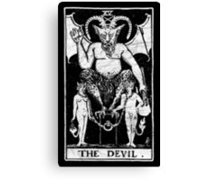 The Devil Tarot Card - Major Arcana - fortune telling - occult Canvas Print