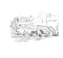 Milford, CT Duck Pond Photographic Print