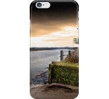 Old boat house on River Mersey iPhone Case/Skin