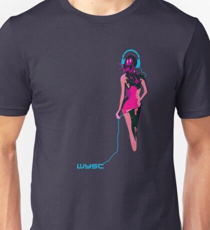 Headphones Girl Unisex T-Shirt