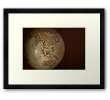 Vintage Globe Framed Print