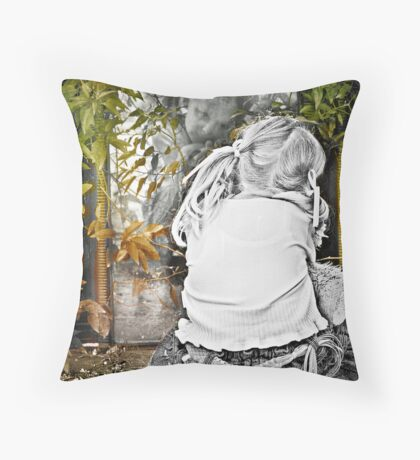 Through the Looking Glass from the 'spaces between series' Throw Pillow