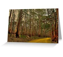 The Yellow Dirt Road Greeting Card