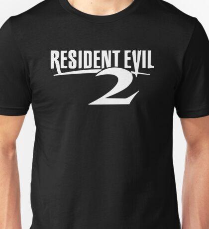 Resident Evil 2 Logo, White Unisex T-Shirt