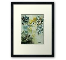Watercolor mill Framed Print