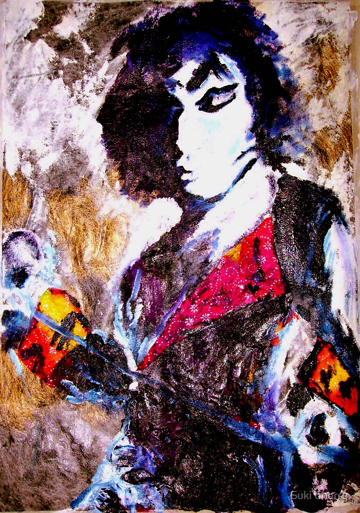 Freddy Mercury Portrait, multi-media piece by Suki Cherry