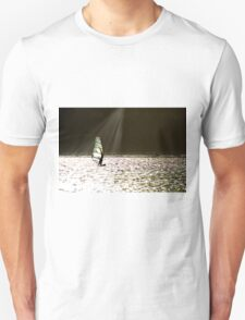 Wind Surfer in sunbeam Unisex T-Shirt