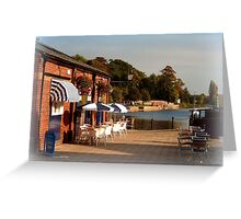 Tea at the Quay Greeting Card