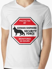 German Shepard Security - DETER BURGLARS Mens V-Neck T-Shirt