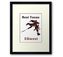 Best Yasuo EUwest Framed Print