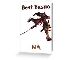 Best Yasuo NA Greeting Card