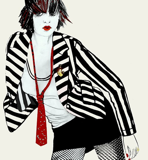 Schoolgirl / Fashion Illustration by Mariska
