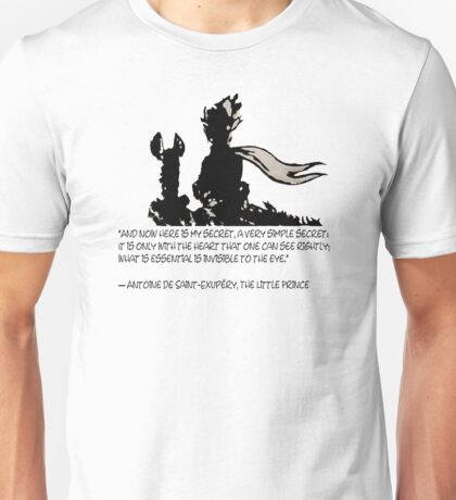 The LITTLE PRINCE and the fox - dream version - quote Unisex T-Shirt