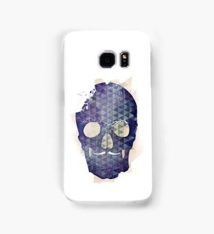Purple Skull with Moustache Samsung Galaxy Case/Skin