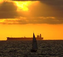Sunset Over Port Phillip Bay by Austral