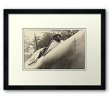 Spitfire and R.A.F Hat Framed Print