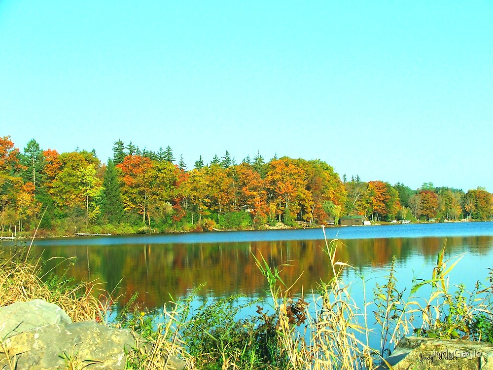 Fall on Cazenovia Lake by Judy Gayle Waller