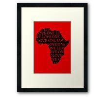 AFRICA ONE LOVE Framed Print