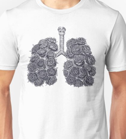 Lungs with peonies Unisex T-Shirt