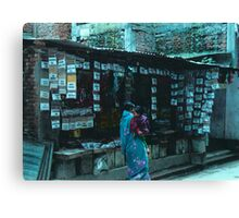 Nepalese Spice Stall Canvas Print