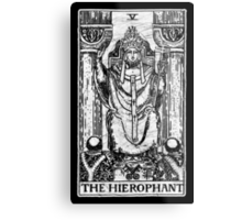 The Hierophant Tarot Card - Major Arcana - fortune telling - occult Metal Print