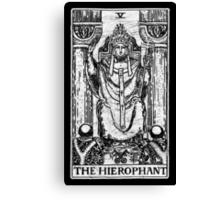 The Hierophant Tarot Card - Major Arcana - fortune telling - occult Canvas Print