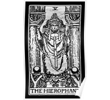 The Hierophant Tarot Card - Major Arcana - fortune telling - occult Poster