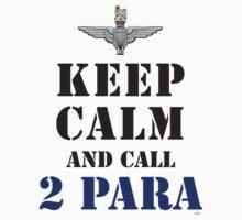 KEEP CALM AND CALL 2 PARA Kids Clothes