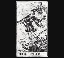 The Fool Tarot Card - Major Arcana - fortune telling - occult Kids Clothes