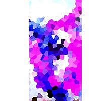 Mask Pink Abstract Pixel Digital Crystal Art Photographic Print
