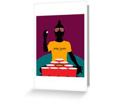 Buddha Pong Greeting Card