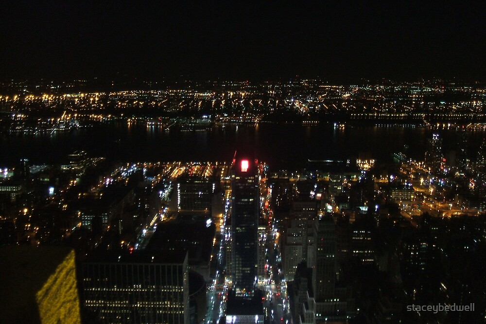 new york city by night by staceybedwell