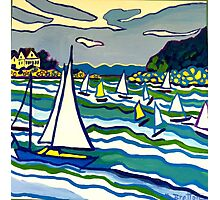 Sailing School Photographic Print