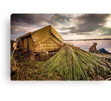 Tropical Straw Hut Canvas Print