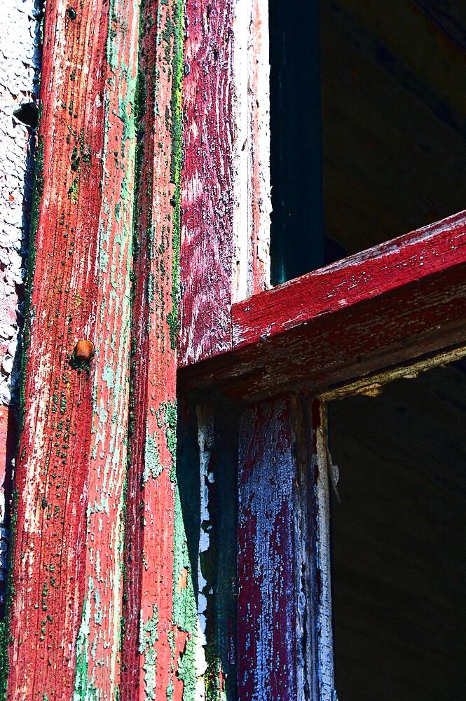 Rustic Window by Rod  Adams