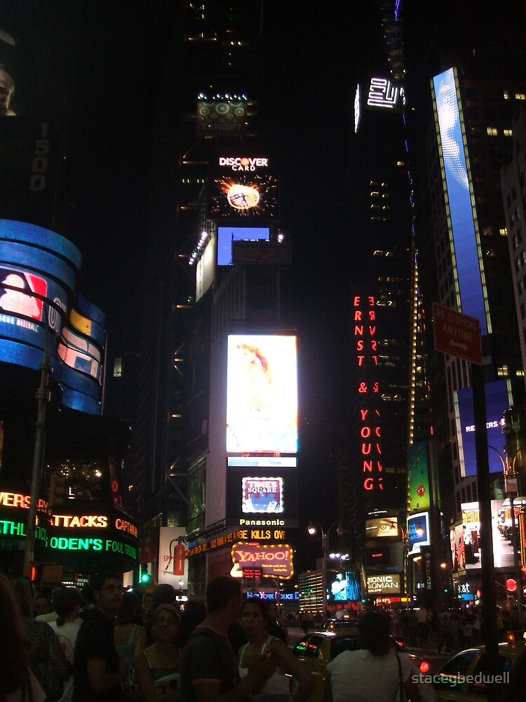 times square by night by staceybedwell