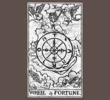 Wheel of Fortune Tarot Card - Major Arcana - fortune telling - occult Kids Clothes