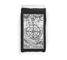 Wheel of Fortune Tarot Card - Major Arcana - fortune telling - occult Duvet Cover