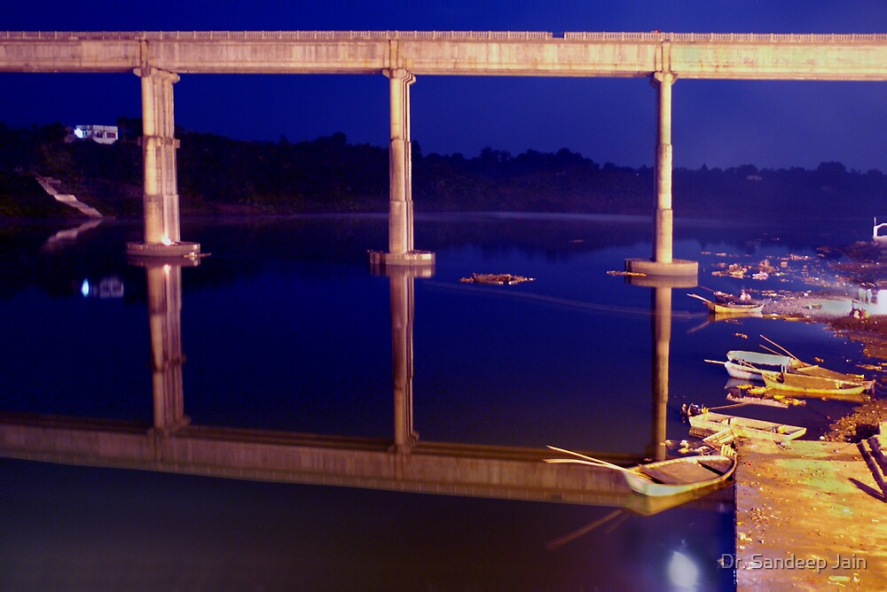 Bridge and its reflection by Dr. Sandeep Jain