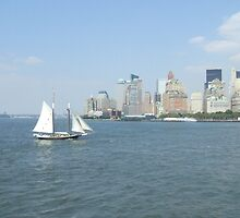 nyc skyline by staceybedwell